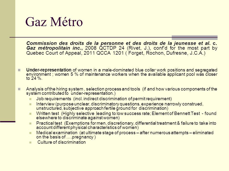 Gaz Métro Commission des droits de la personne et des droits de la jeunesse et al.