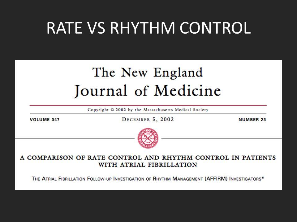 RATE VS RHYTHM CONTROL