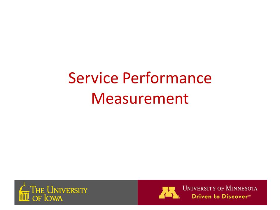 Service Performance Measurement