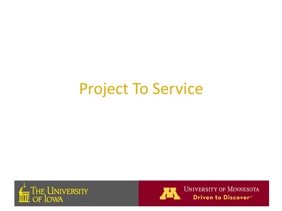 Project To Service