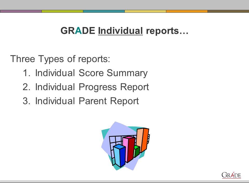 GRADE Individual Reports