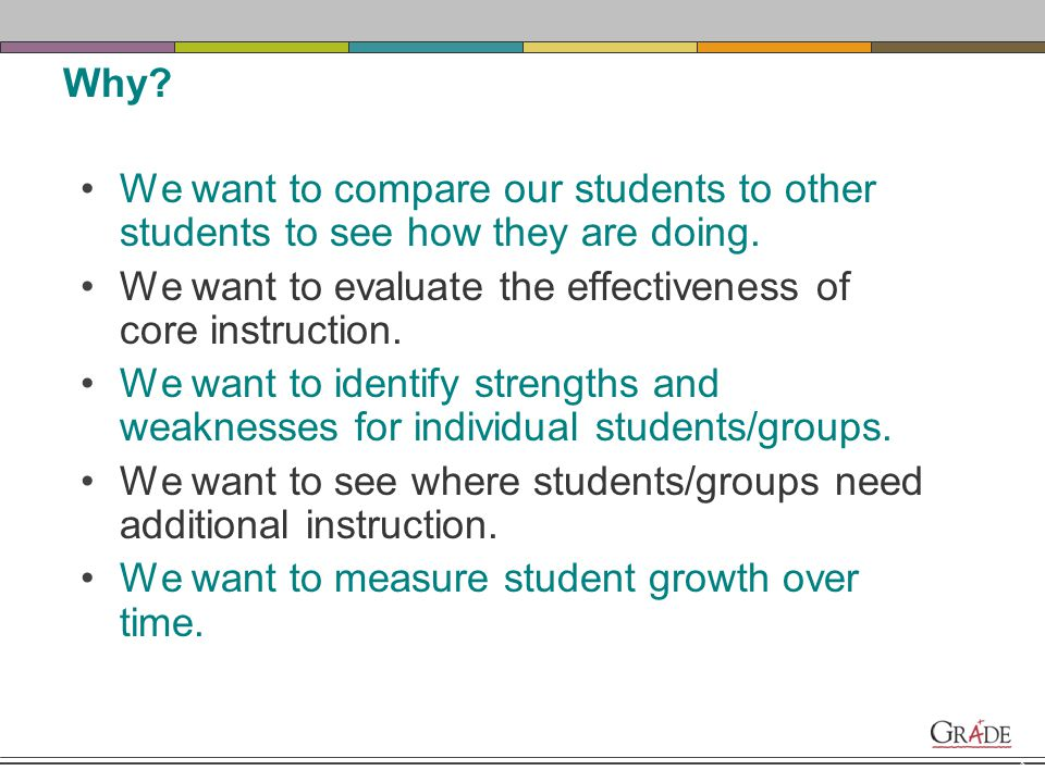 7 Why use the GRADE or any assessment for that matter