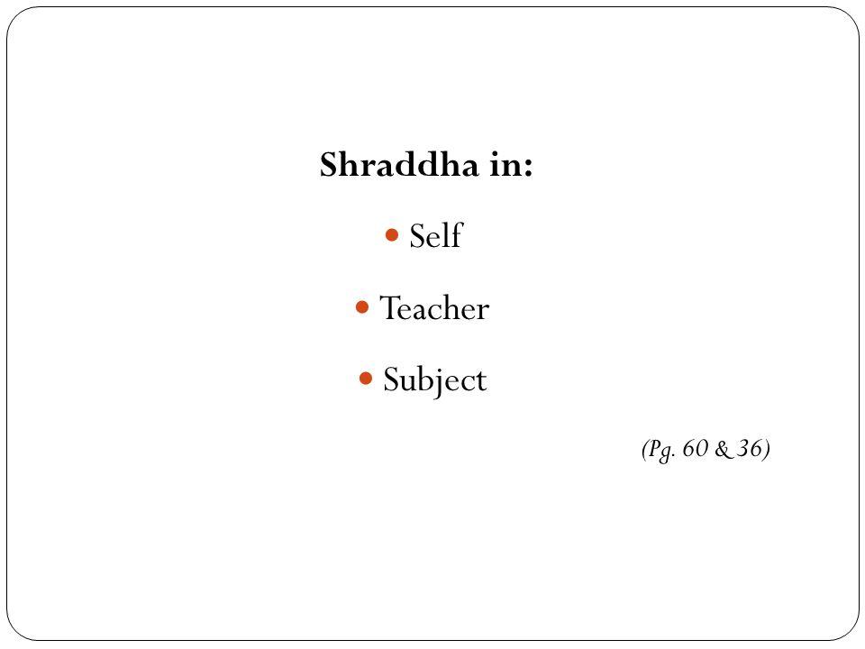 Shraddha in: Self Teacher Subject (Pg. 60 & 36)