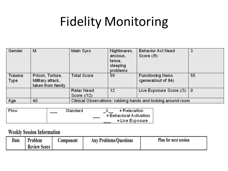 Fidelity Monitoring