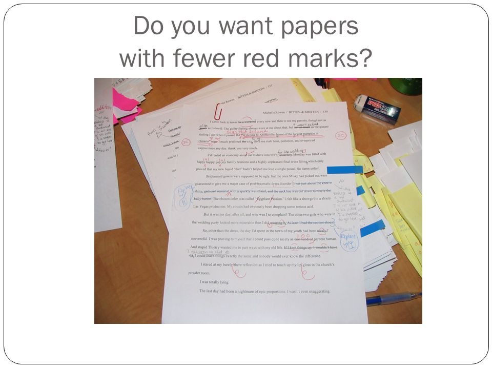 Do you want papers with fewer red marks