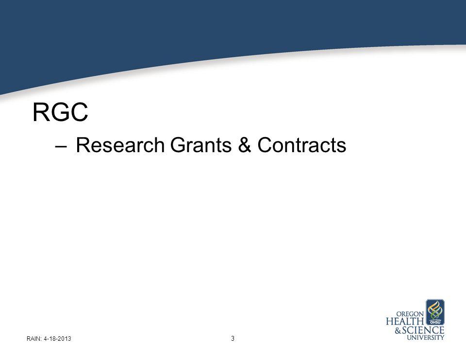 SPA: Sponsored Projects Administration James Trotter 14 RAIN: 4-18-2013 Effort Certification Time.