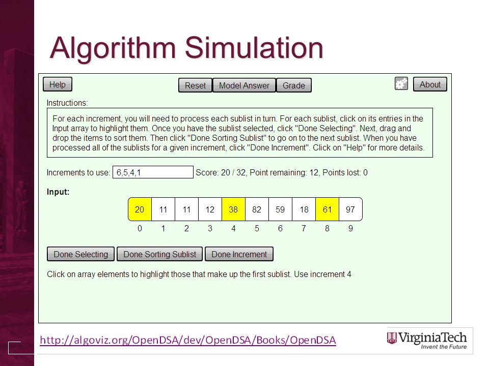 Algorithm Simulation