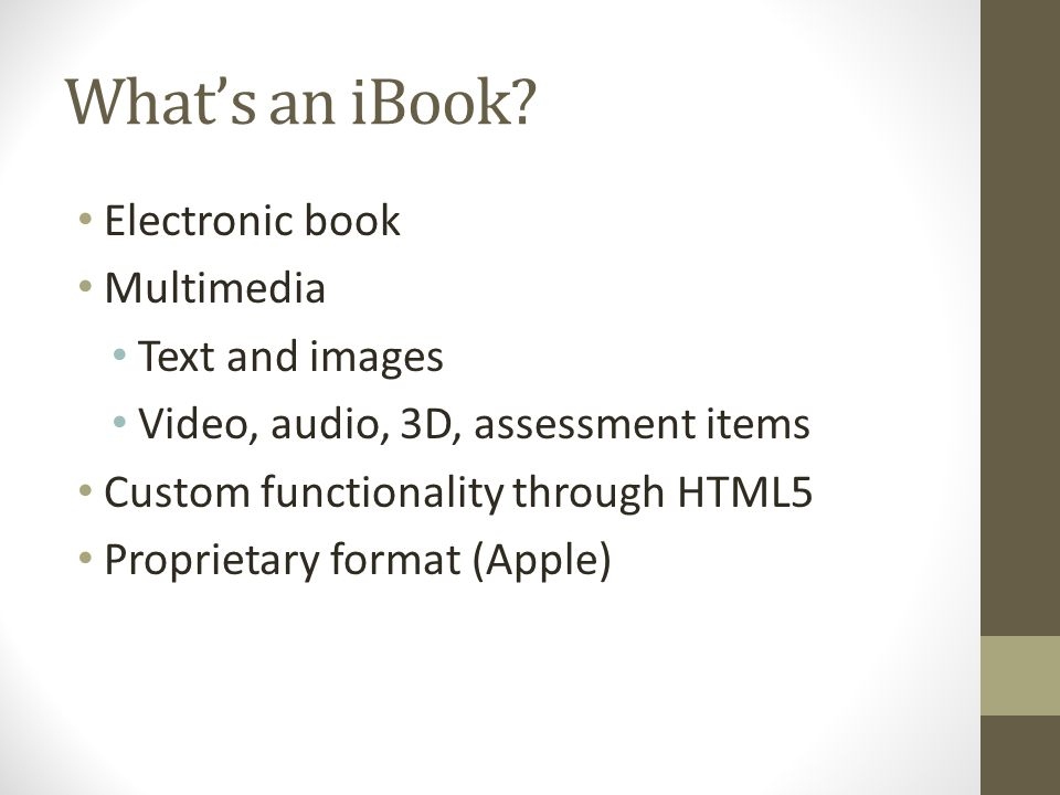 What's an iBook.