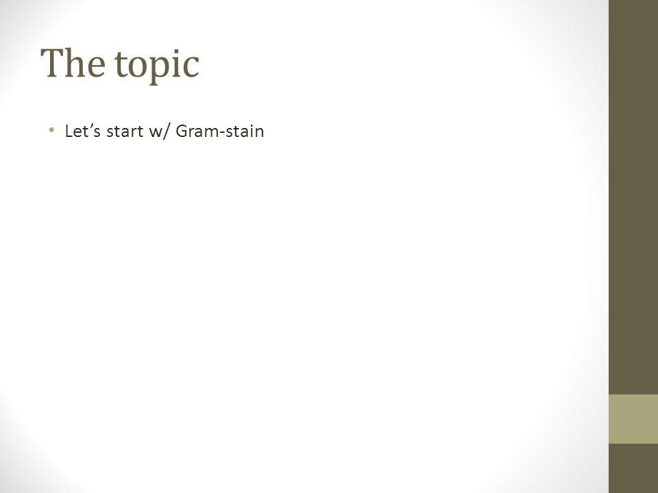 Let's start w/ Gram-stain