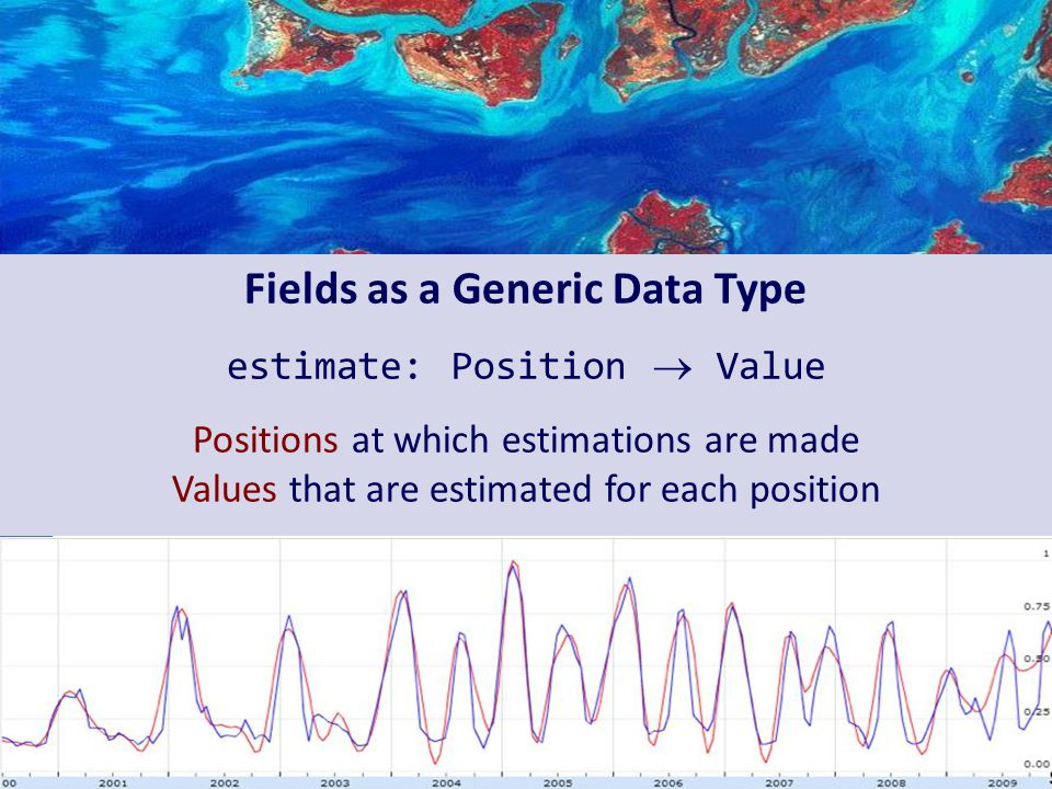 Fields as a Generic Data Type estimate: Position  Value Positions at which estimations are made Values that are estimated for each position