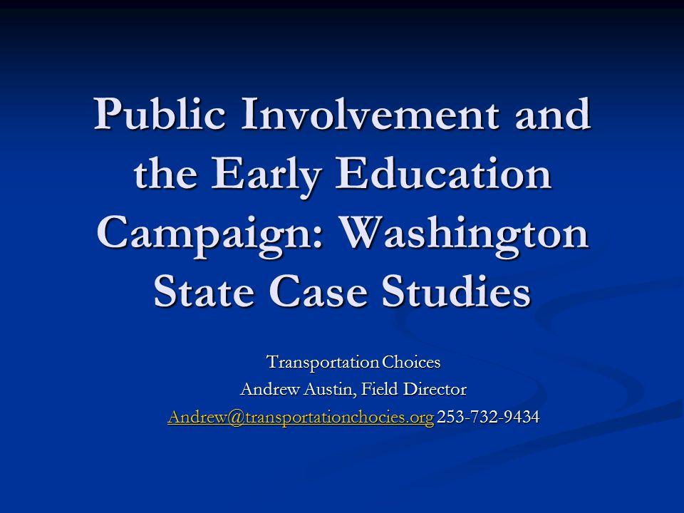 Local Reality: Transit Revenue Campaigns in Washington Local Reality: Transit Revenue Campaigns in Washington