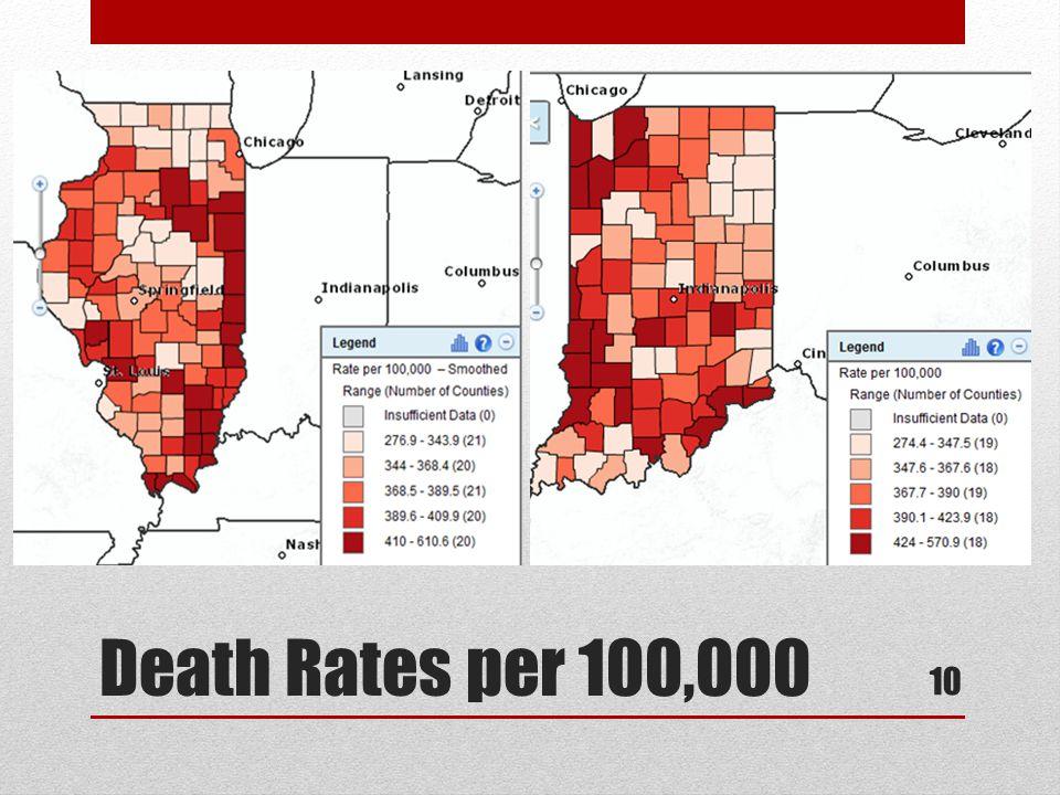 Death Rates per 100,000 10