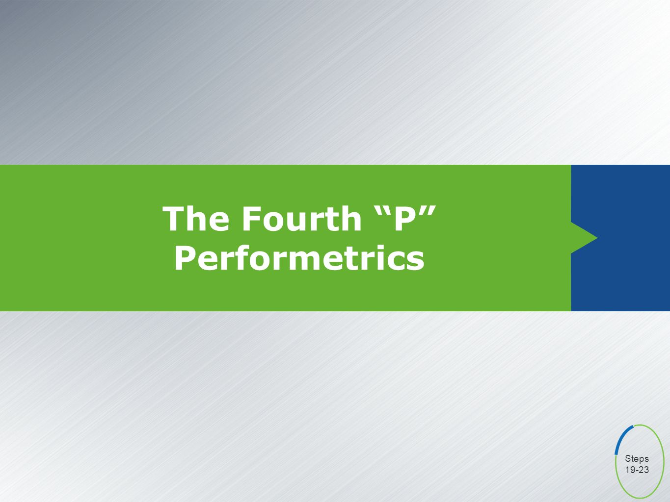 The Fourth P Performetrics Steps 19-23