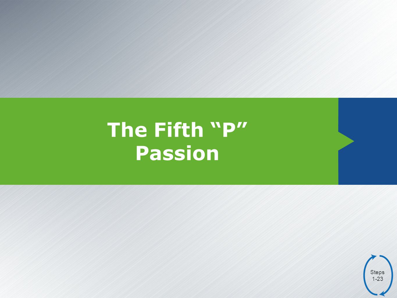 The Fifth P Passion Steps 1-23