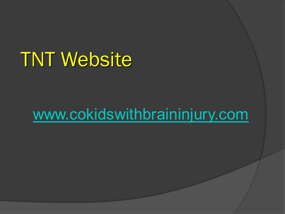 TNT Website www.cokidswithbraininjury.com