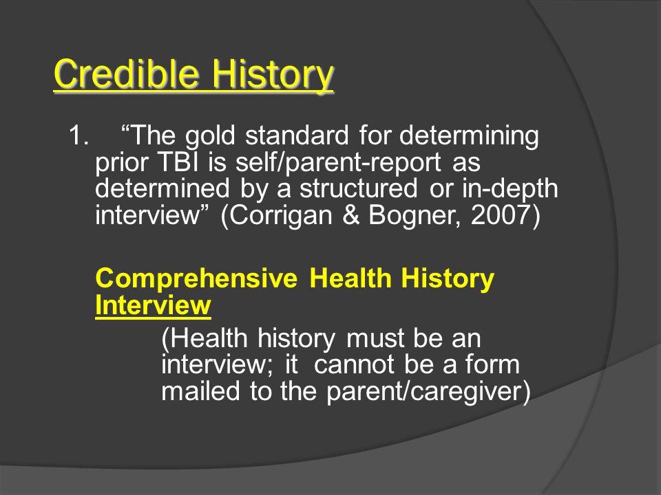 Credible History 1.