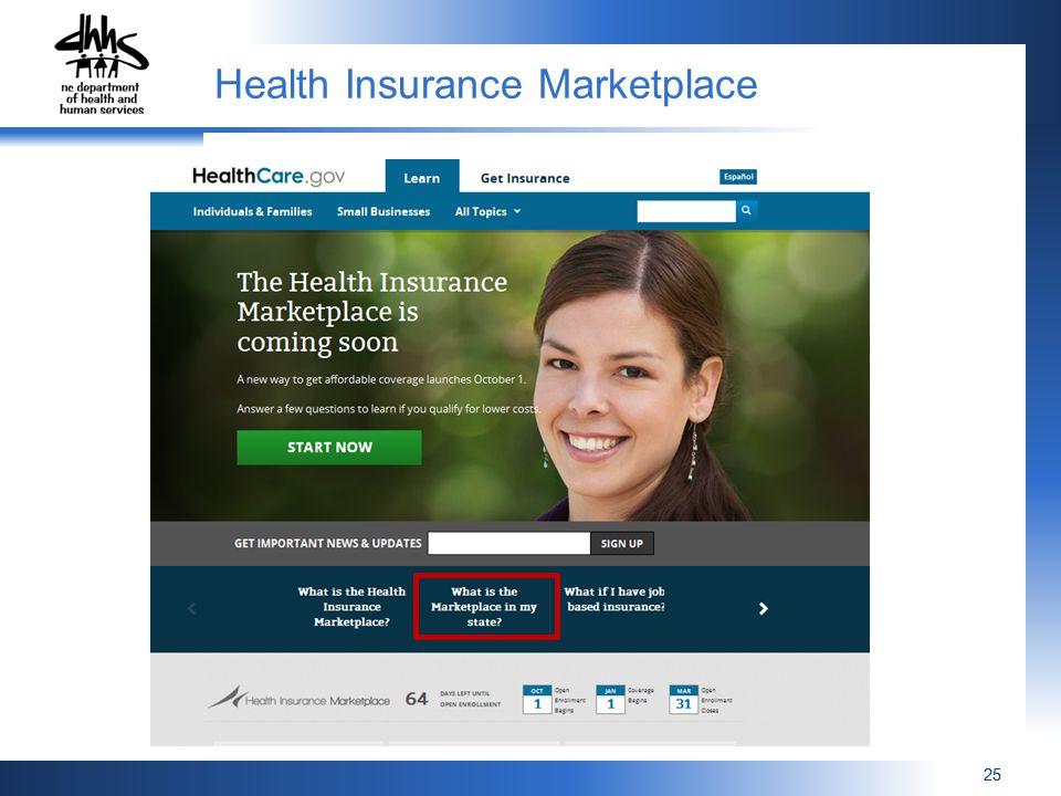 25 Health Insurance Marketplace