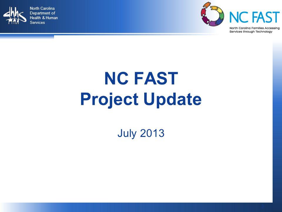 34 North Carolina Department of Health & Human Services 34 DMA Update