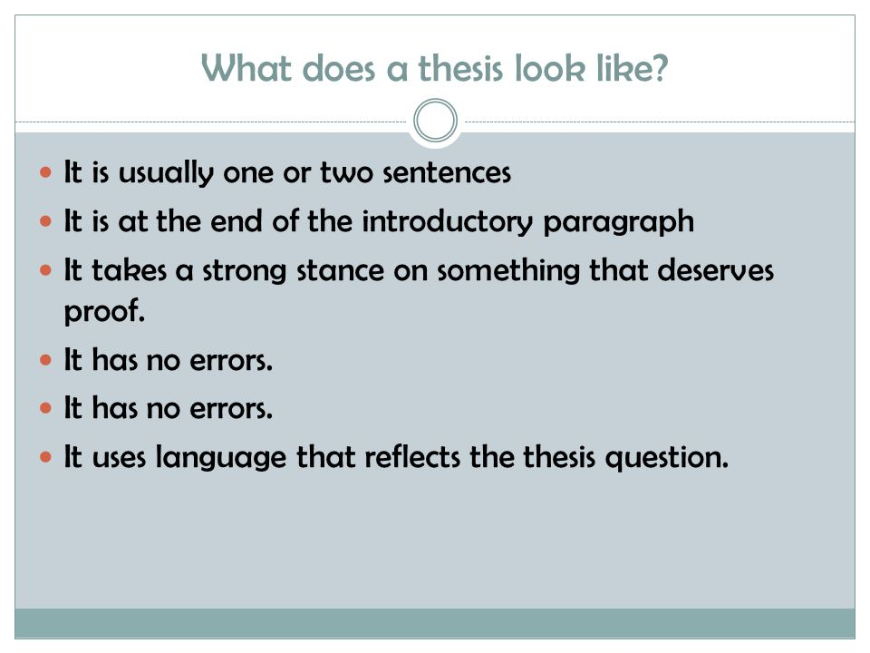 Working and Final Theses: There is an important distinction between a working and a final thesis.