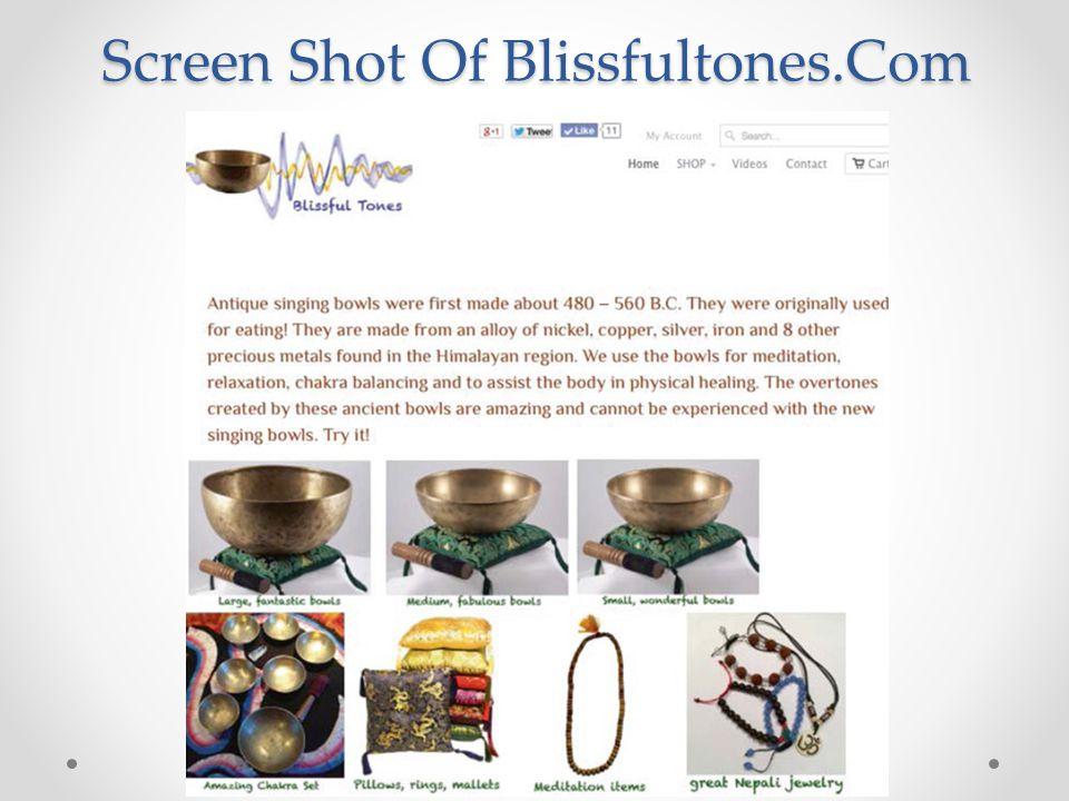 Screen Shot Of Blissfultones.Com