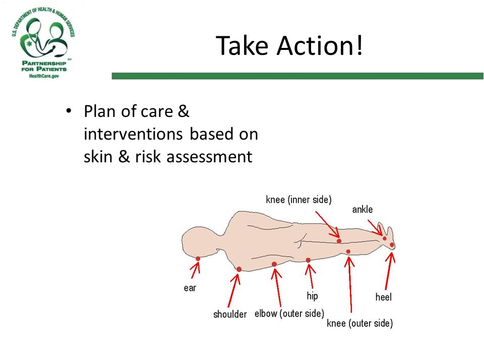 Take Action! Plan of care & interventions based on skin & risk assessment