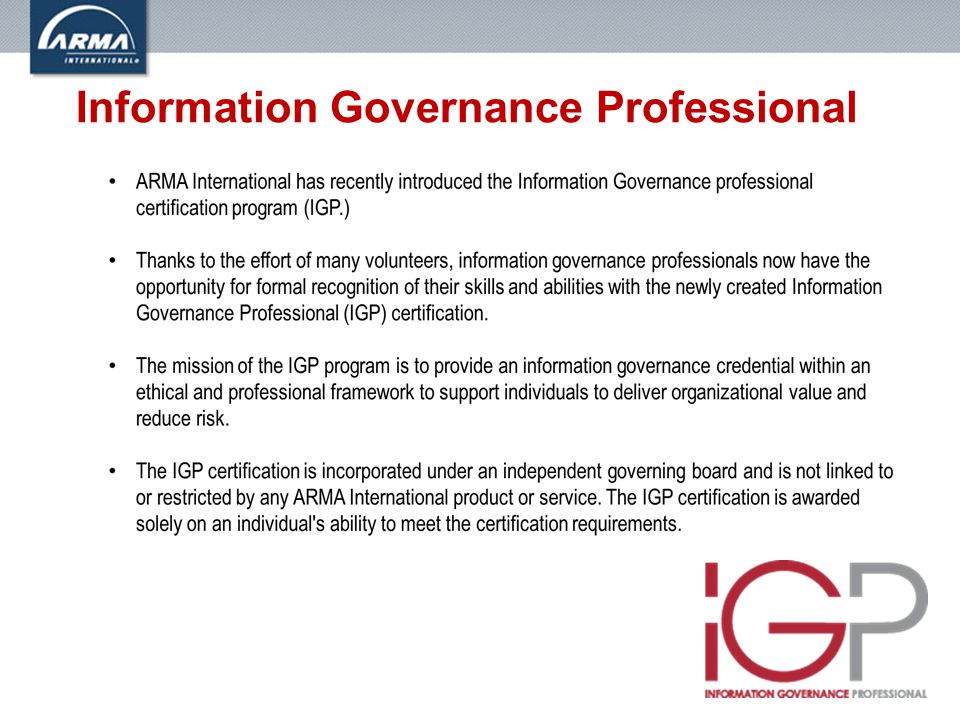 Information Governance Professional