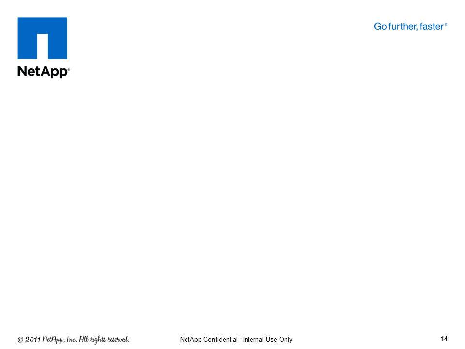 14 NetApp Confidential - Internal Use Only