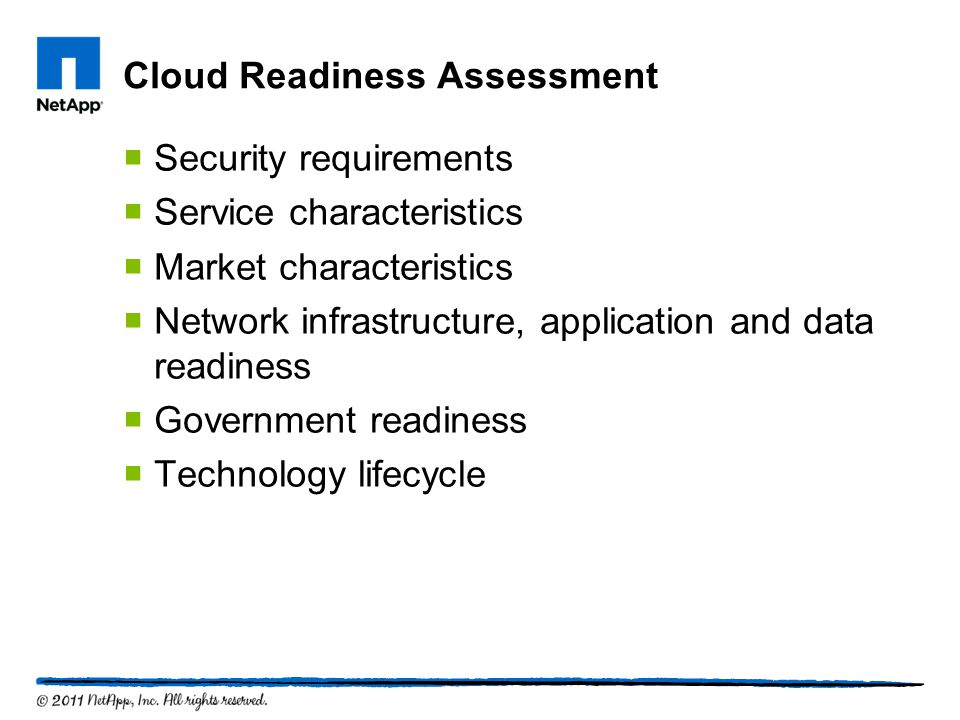 Step 4 – Manage Iterate & Optimize  Reassess & identify gaps  Add new services  Leverage new technologies 20 NetApp Confidential
