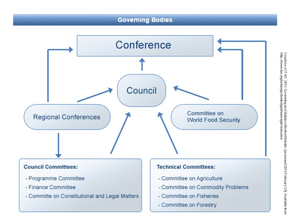Courtesy of: FAO. 2015. Governing and Statutory Bodies Website.