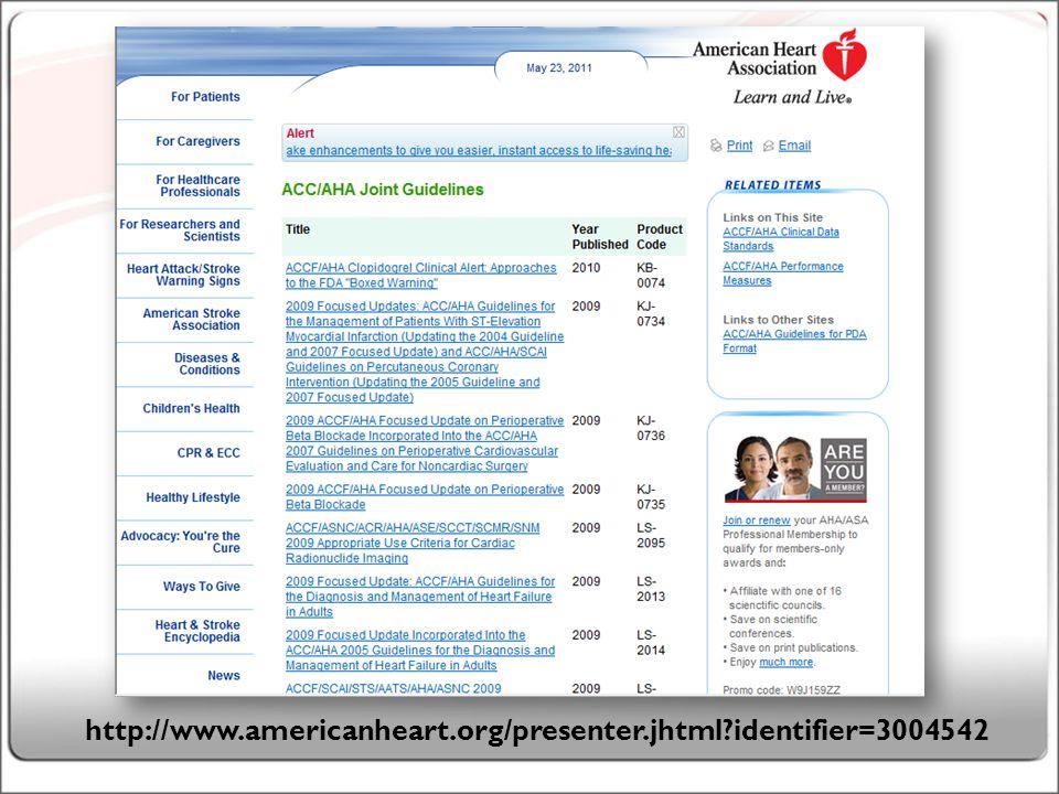 19 http://www.americanheart.org/presenter.jhtml identifier=3004542
