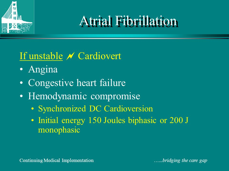 If unstable  Cardiovert If Stable: 1.Rate control 2.Minimize thrombo-embolic risk.