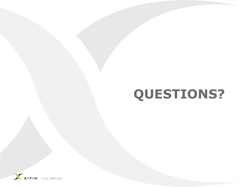 WWW. XIFIN. COM QUESTIONS?