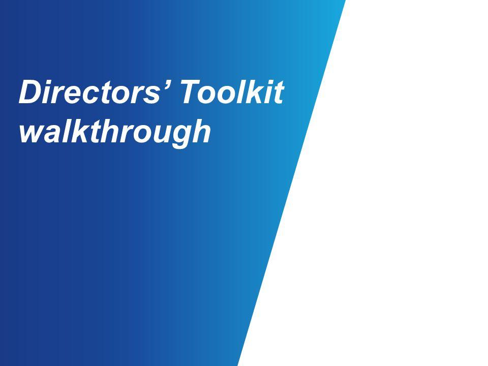 Directors' Toolkit walkthrough