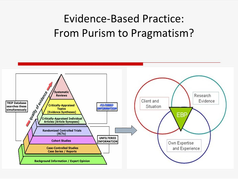 Evidence-Based Practice: From Purism to Pragmatism?