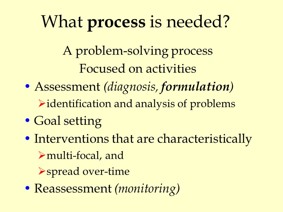 What process is needed.