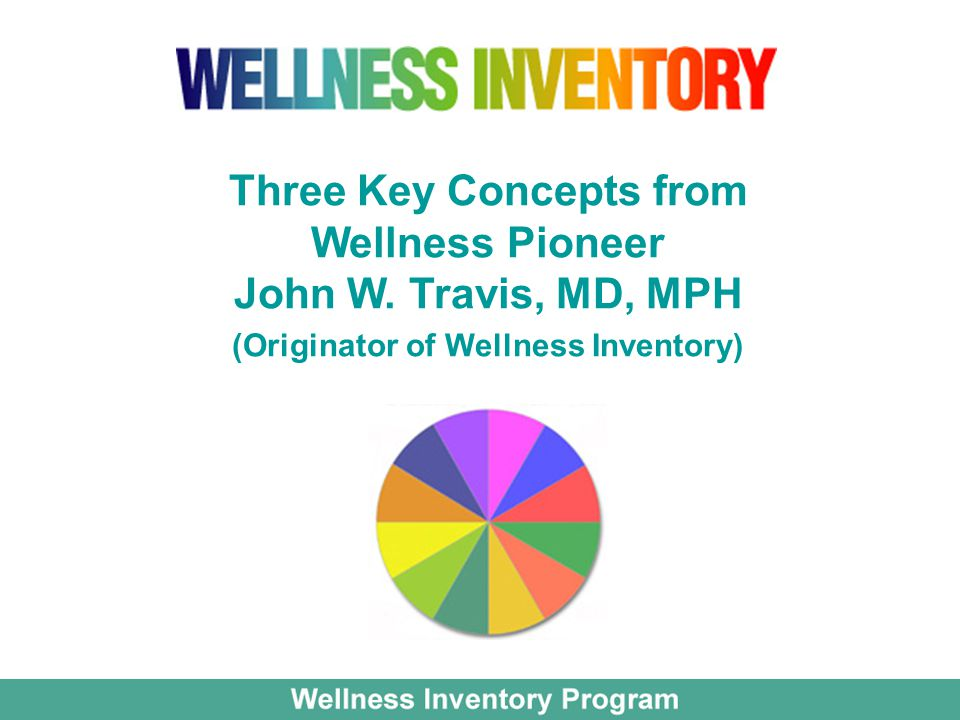 Three Key Concepts from Wellness Pioneer John W. Travis, MD, MPH (Originator of Wellness Inventory)