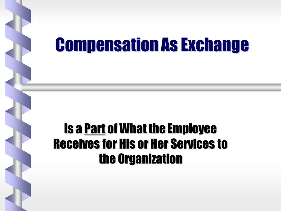 Types of Returns to Employees in Exchange for Work Financial Compensation Relational Forms of Return