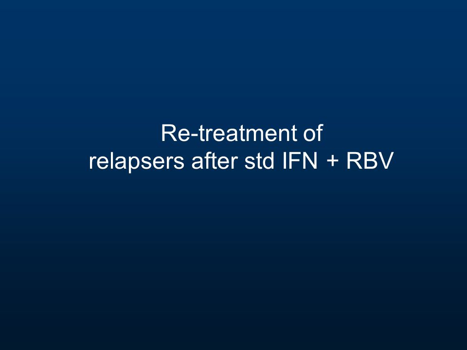 Re-treatment of relapsers after std IFN + RBV