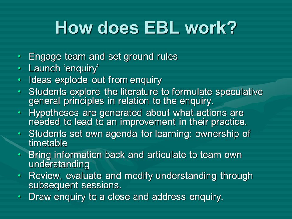 How does EBL work.