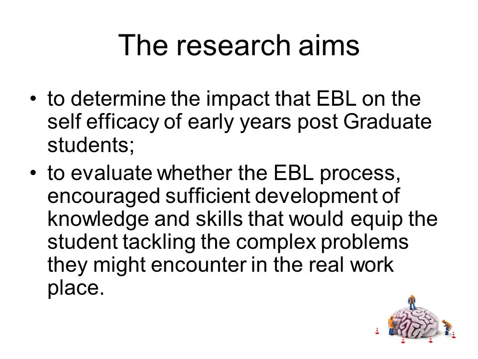 Subsequent rounds of EBL Both the first and second round of research demonstrated that levels self efficacy improved EYNF application tender………..