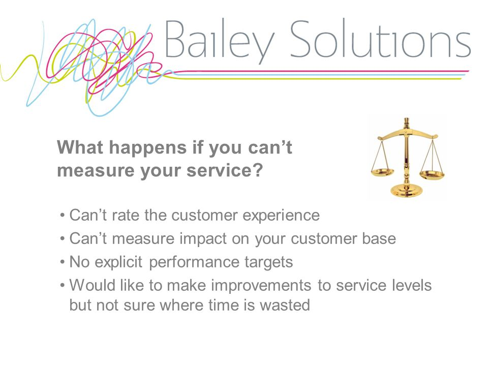 What happens if you can't measure your service.