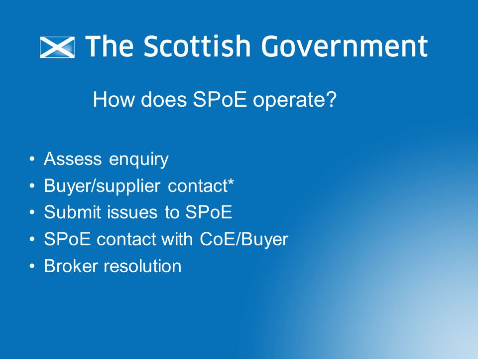 How does SPoE operate.