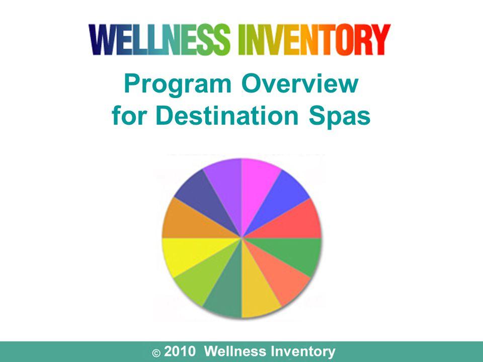 Program Overview for Destination Spas