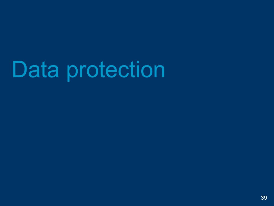 Data protection 39