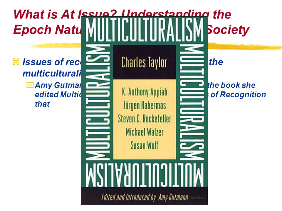 zIssues of recognition of diversities under the multiculturalism of the global age yAmy Gutmann indicates in the Introduction of the book she edited Multiculturalism: Examining the Politics of Recognition that What is At Issue.