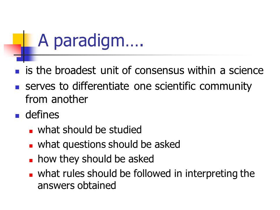 A paradigm….