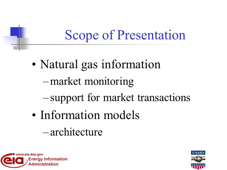Access to Information - Important in a Competitive Market Relevant information is needed by: Consumers - to make informed decisions on energy purchases.