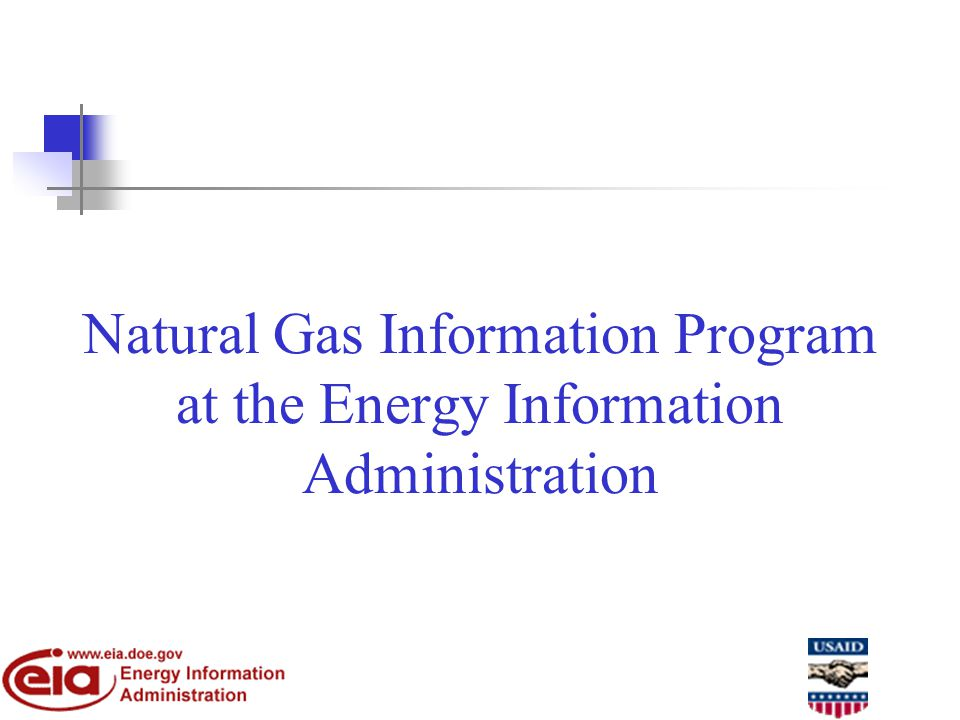 Natural Gas Information Program at the Energy Information Administration