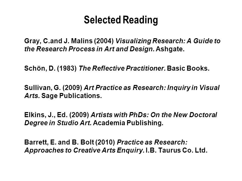 Selected Reading Gray, C.and J.
