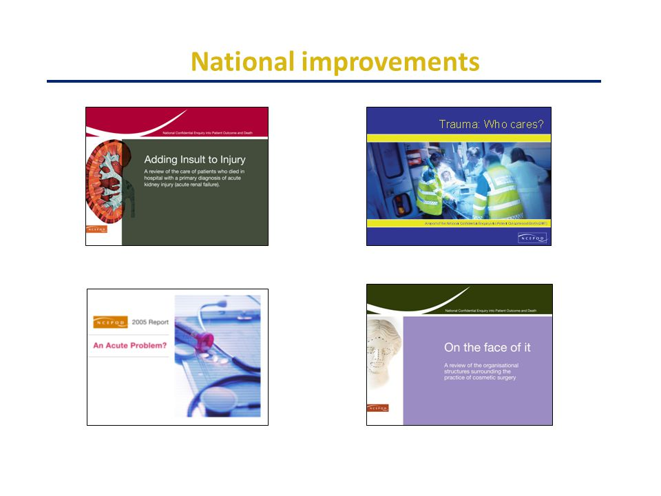 National improvements